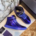 man philipp plein chaussures france blue patent leather